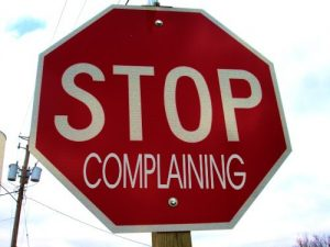 self talk: stop complaining stop sign