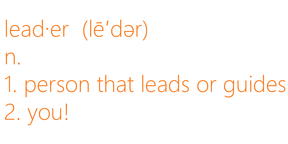 Definition of a Leader