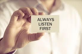 Political conversations? Always listen first